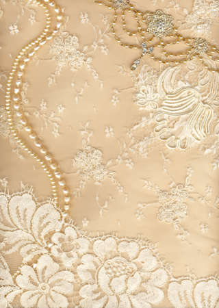 lace background: Luxury wedding background with plenty of copy space Stock Photo