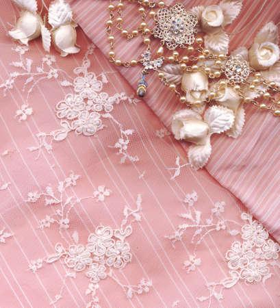 bead embroidery: wedding card