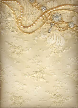 perlas: Lujo de fondo de la boda con un montón de espacio de la copia Foto de archivo