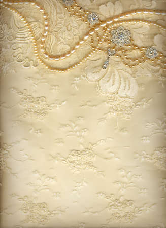 beige: Luxury wedding background with plenty of copy space Stock Photo