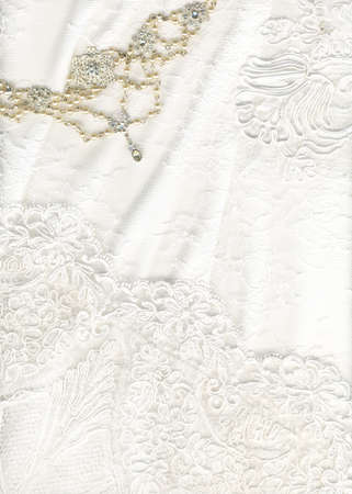 Beautiful white textile wedding background photo