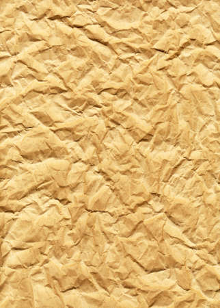 crimp: Crumpled wrapping paper, abstract background Stock Photo