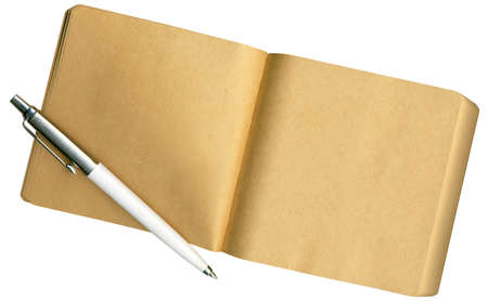 A Notebook made of eco-friendly paper, isolated o white photo