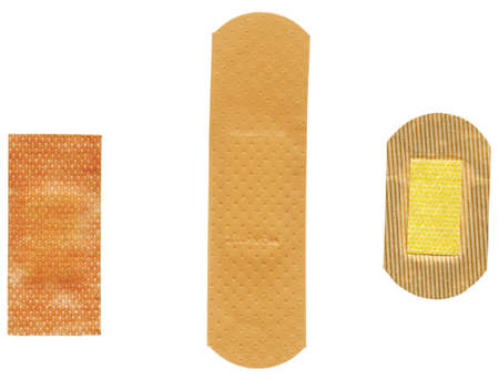 three different plasters photo
