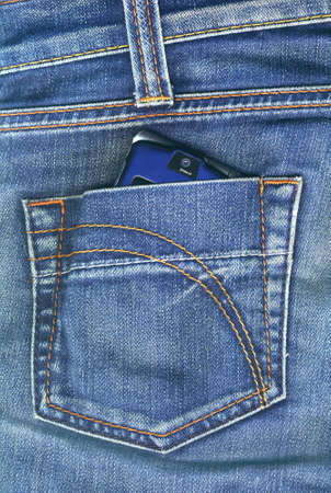 Pocket with mobile phone photo