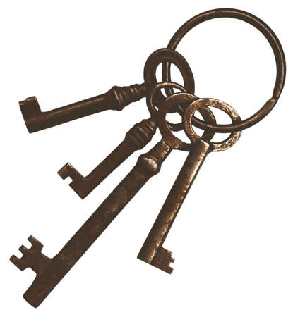 a bunch of old vintage keys Stock Photo - 11577614