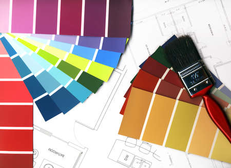 Color Swatches and plans Stock Photo - 11610865