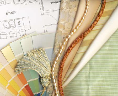 kleur en textiel stalen Stockfoto