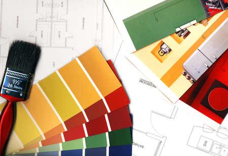 Kleurstalen en plannen