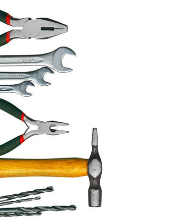 screwdriwer: A set of tools - isolated on white background