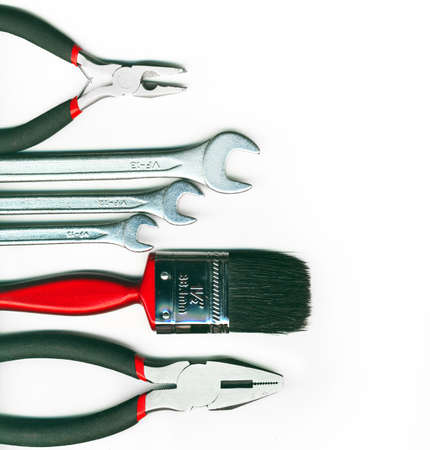 tool kit: A set of tools - isolated on white background