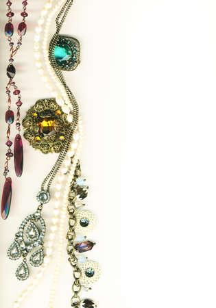 Vintage jewellery border Stock Photo - 11586874