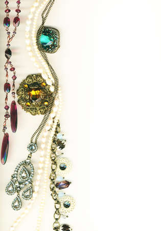 diamond necklace: Vintage jewellery border