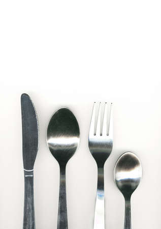 knife, fork and spoon photo