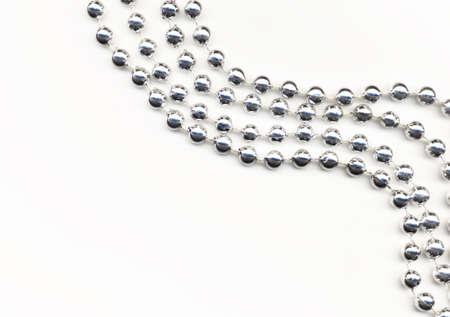 christmas beads:  Christmas decorations Stock Photo