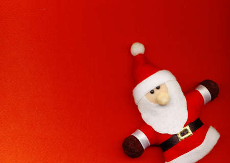 Santa Claus on the red background Stock Photo - 11586658