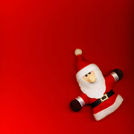 Santa Claus on the red background photo