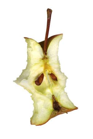 eaten: stump. fresh apple just from the garden Stock Photo