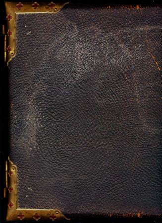 Old leather bound book photo