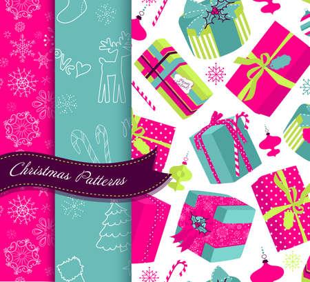 trim: Set of Retro Christmas patterns