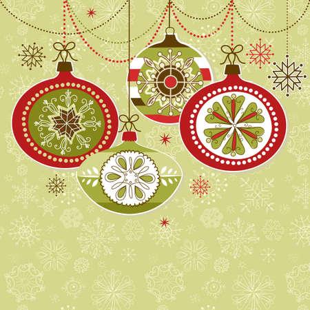 Retro adornos de Navidad Foto de archivo - 12494234