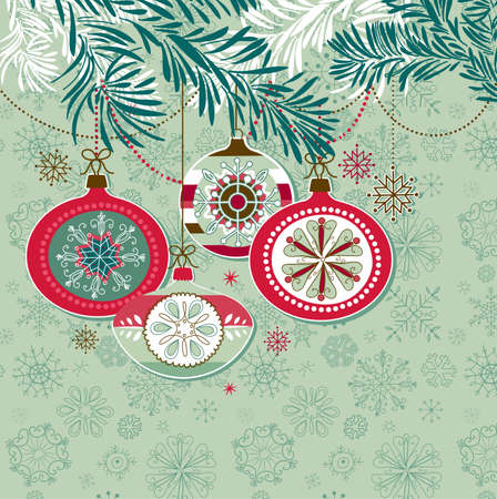 christmas pink: Retro Christmas Ornaments