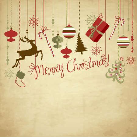 cajas navide�as: De fondo de Navidad Vectores