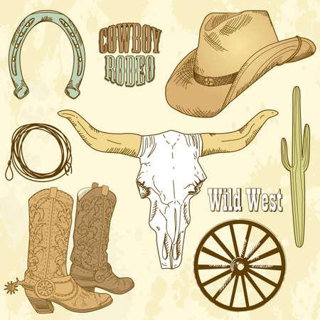Wild West Set Stok Fotoğraf - 12494181