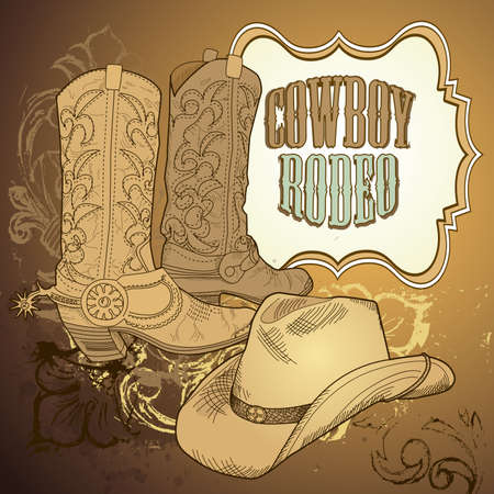 country western: owboy background
