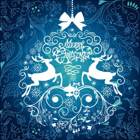 Grüne Weihnachten Hintergrund mit Weihnachtsschmuck Standard-Bild - 12494202