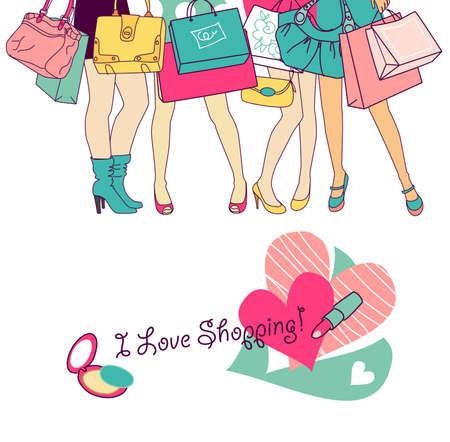 shoe sale: Las ni�as de compras