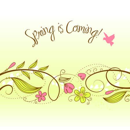 Mooie bloemenachtergrond Stock Illustratie