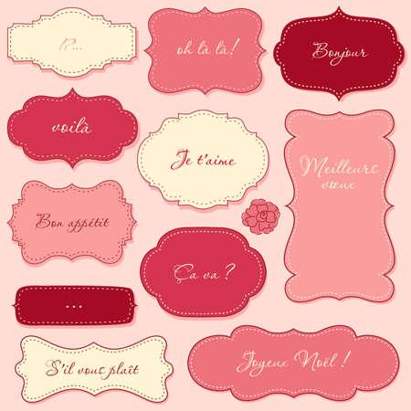 editable sign: Vintage Valentine Frames