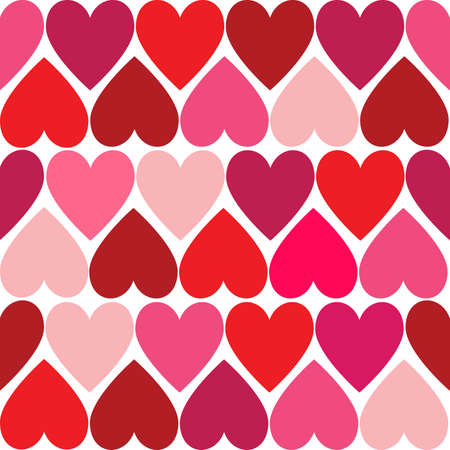 Valentine hearts seamless pattern  Vector