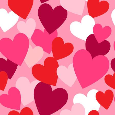 Valentine hearts seamless pattern Illustration