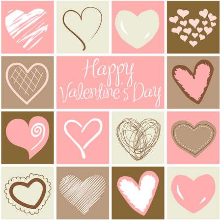 Valentine heart greeting card Illustration