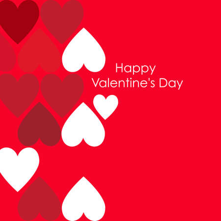 Abstract valentine background with hearts  Vector