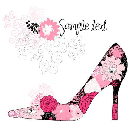 vogue: love shoes!  Illustration
