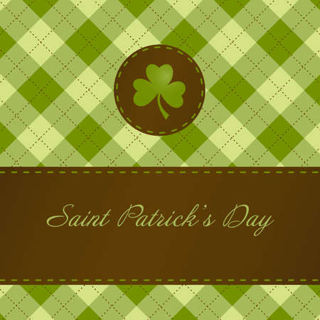 lucky day: Saint Patricks day card Illustration