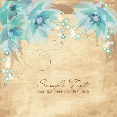 Vinage Flower Background Vector