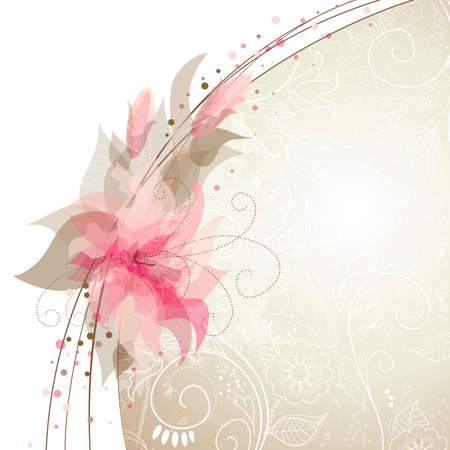 Romantic Flower Background Vector