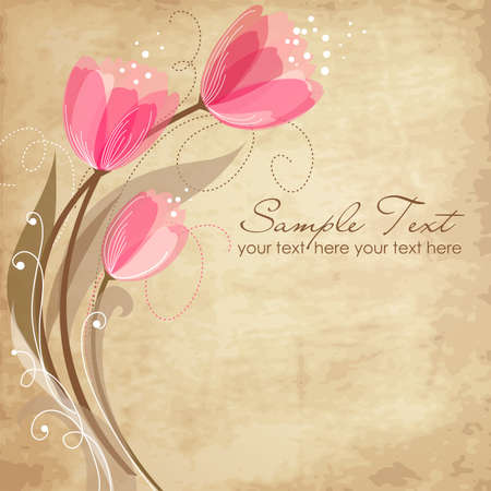 birth day: Romantic Flower Background