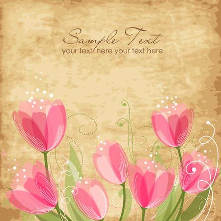 Romantic Flower Background Stock Vector - 12494200