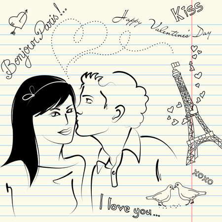 cool boys: LOVE doodles  Illustration