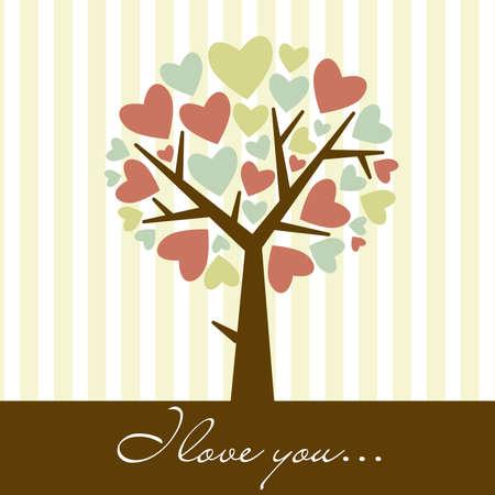abstract heart tree Stock Vector - 12494079