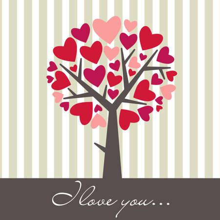 anniversaire mariage: Amour de Valentine Arbre