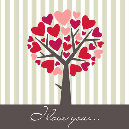 Valentine Love Tree Stock Vector - 12494092
