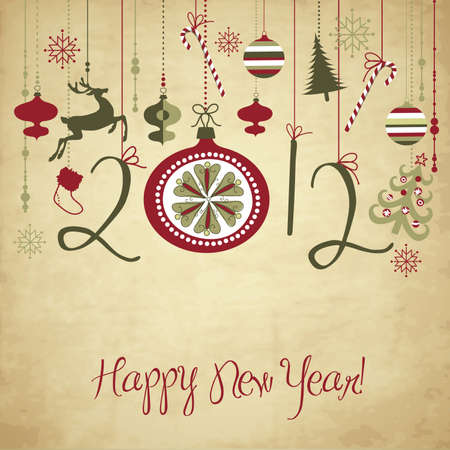 2012 Happy New Year background.  Vector