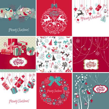 Juego de Tarjetas de Navidad Foto de archivo - 12494281