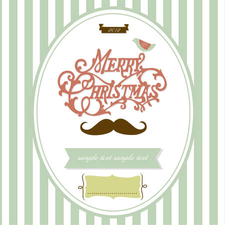 Vintage Christmas template Vector